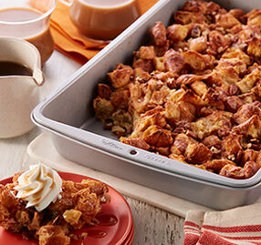 Bourbon Bread Pudding with Boozy Caramel Sauce