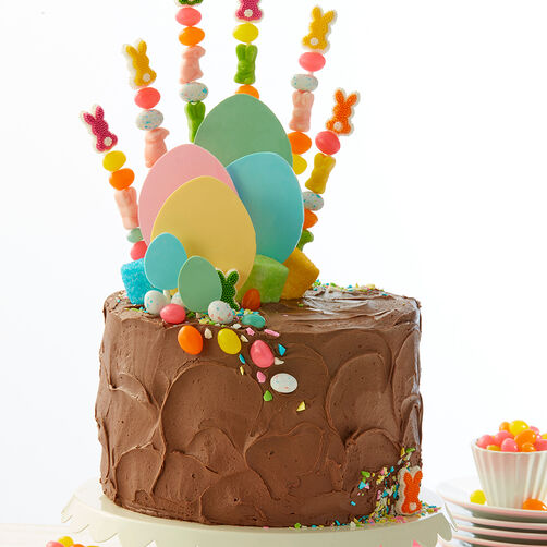 Chocolate Cake With Easter Kabobs Wilton