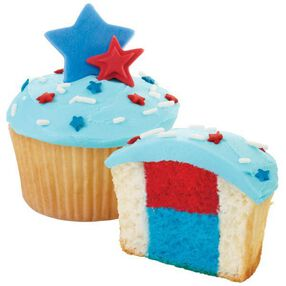 Patriotic Panorama Cupcakes