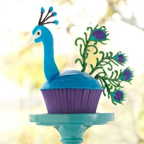 Candy Peacock Cupcake