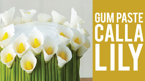 How to Make a Gum Paste Calla Lilly