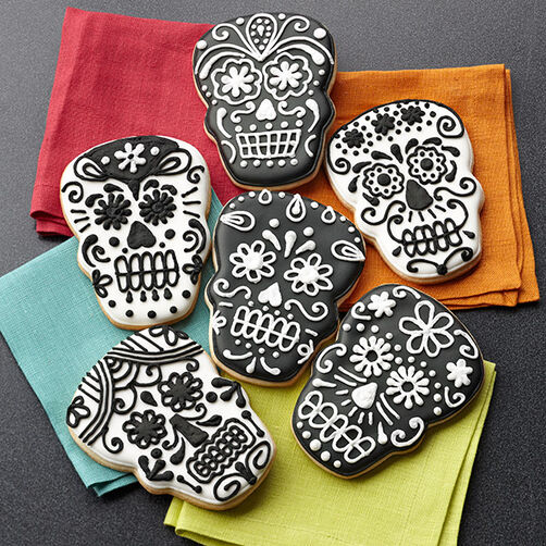 Sugar Skull Cookies - Day of the Dead Skull Cookies