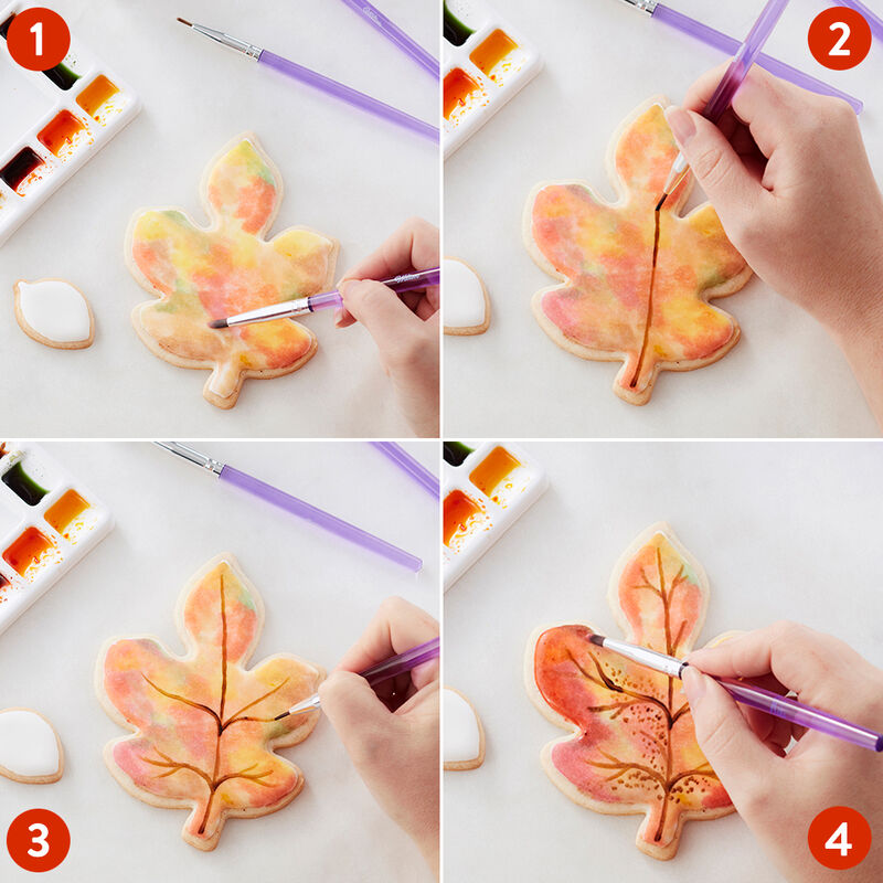 Fall Painted Leaf Cookies image number 2