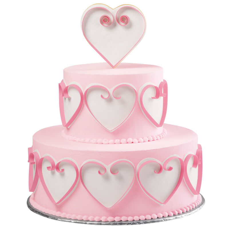Flirtatious Hearts Tiered Cake image number 0
