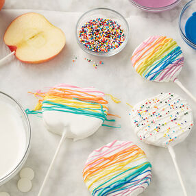 Candy-Covered Apple Lollipops