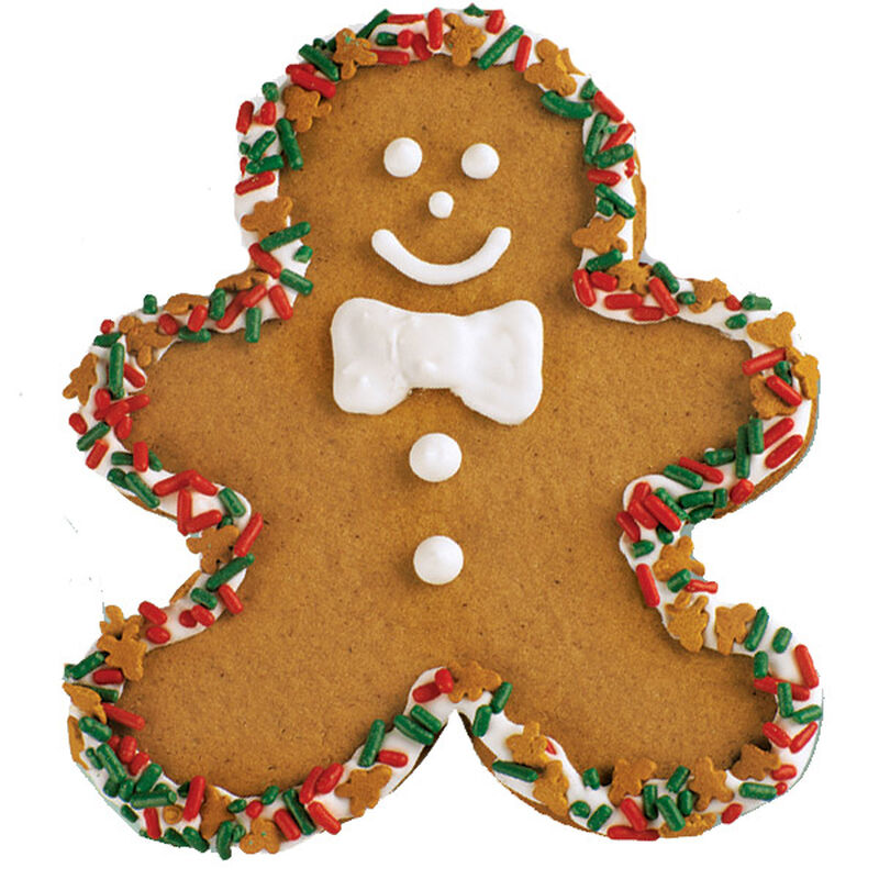 Decked Out Gingerbread Boy Cookie image number 0