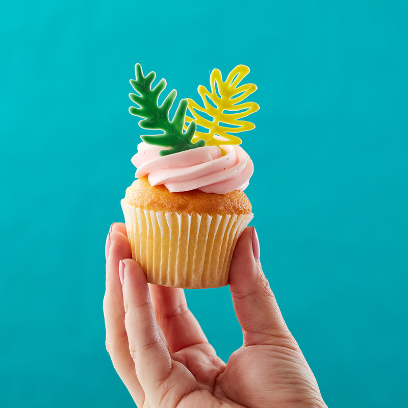 Tropical Leaf Cupcakes image number 1