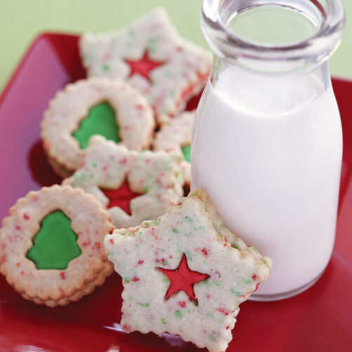 Wonders of Winter Linzer Cookies