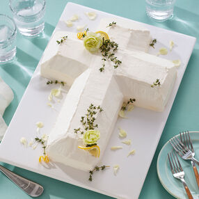 Herb and Lemon Spring Cross Cake