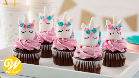 Magical Marshmallow Unicorn Cupcake Toppers