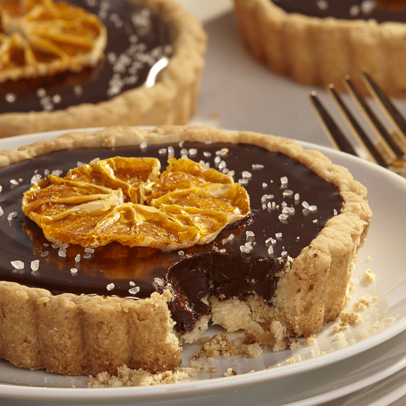 Salted Chocolate Ganache Tartlets image number 1