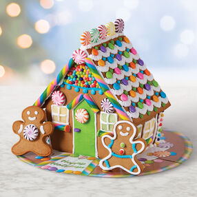 Holiday Bright Gingerbread House #1