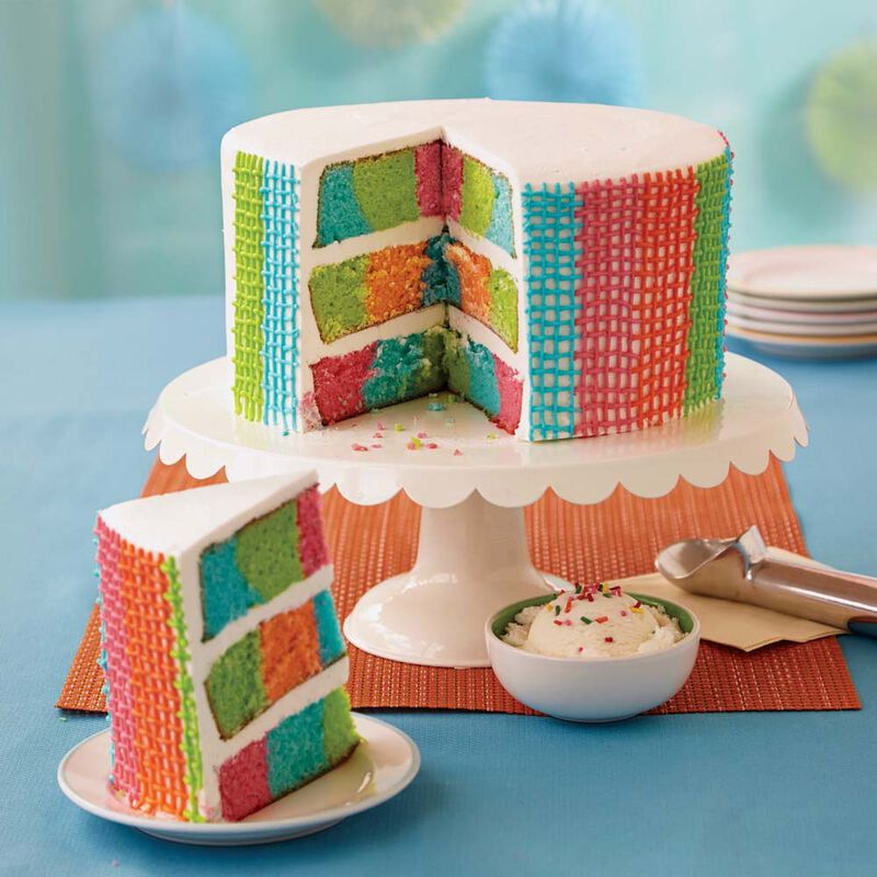 Wilton Gingham Basket Weave Checkerboard Cake image number 0