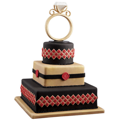 Bring on the Bling Wedding Cake