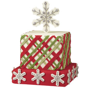 Plaid Tidings Christmas Cake