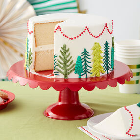 All Spruced Up Christmas Tree Cake