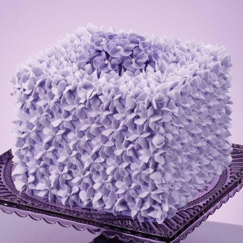 Violet Visions Square Cake