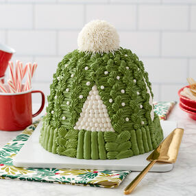 Cozy Knit Hat Cake