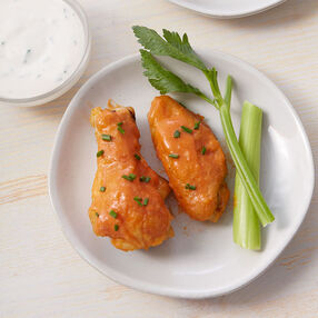 Buffalo Chicken Wings with Easy Dipping Sauce Recipe