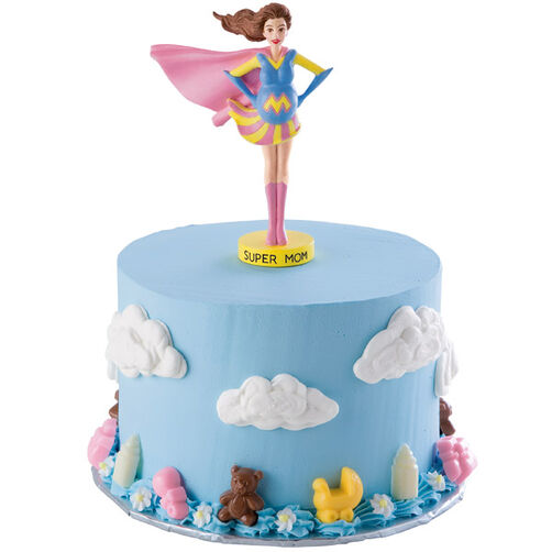 Super Mom Baby Shower Cake