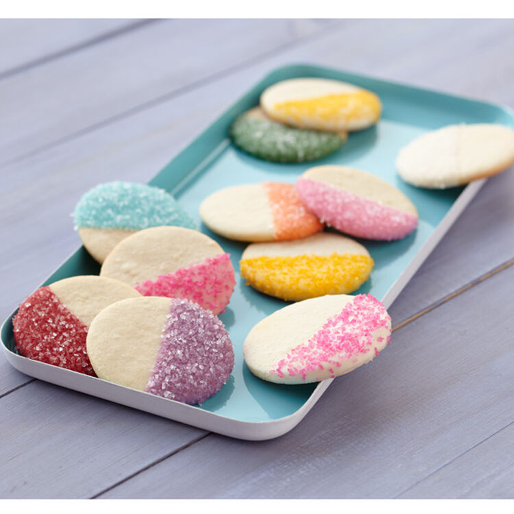 Two-Tone Candy-Dipped Cookies