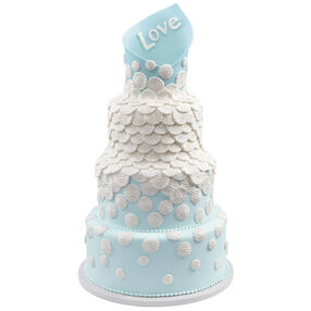 Enveloped in Love Wedding Cake
