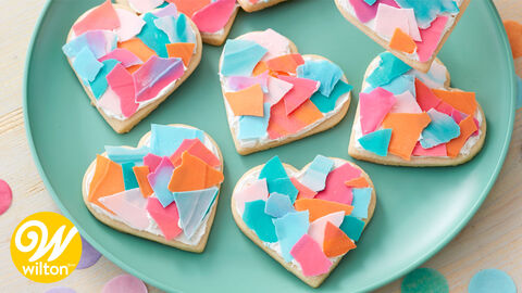 How to Make Valentine Confetti Cookies