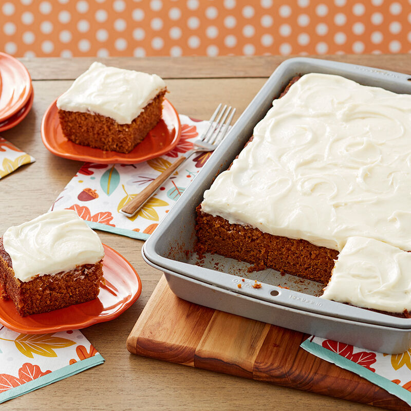 Pumpkin Spice Cake with Cream Cheese Frosting Recipe image number 0