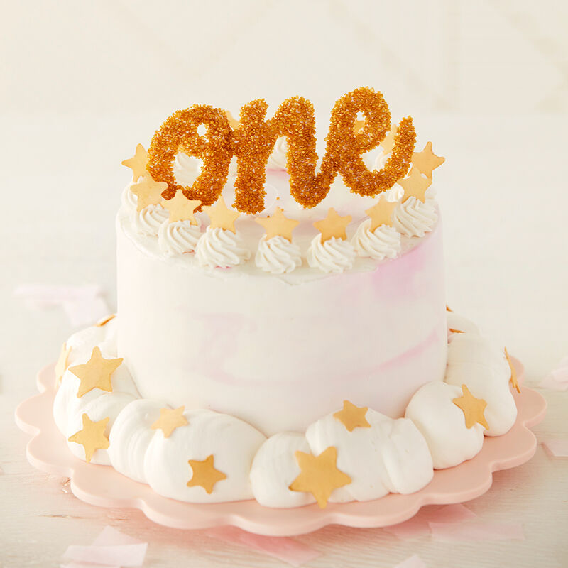 Surprising Star Studded First Birthday Smash Cake Wilton Personalised Birthday Cards Veneteletsinfo