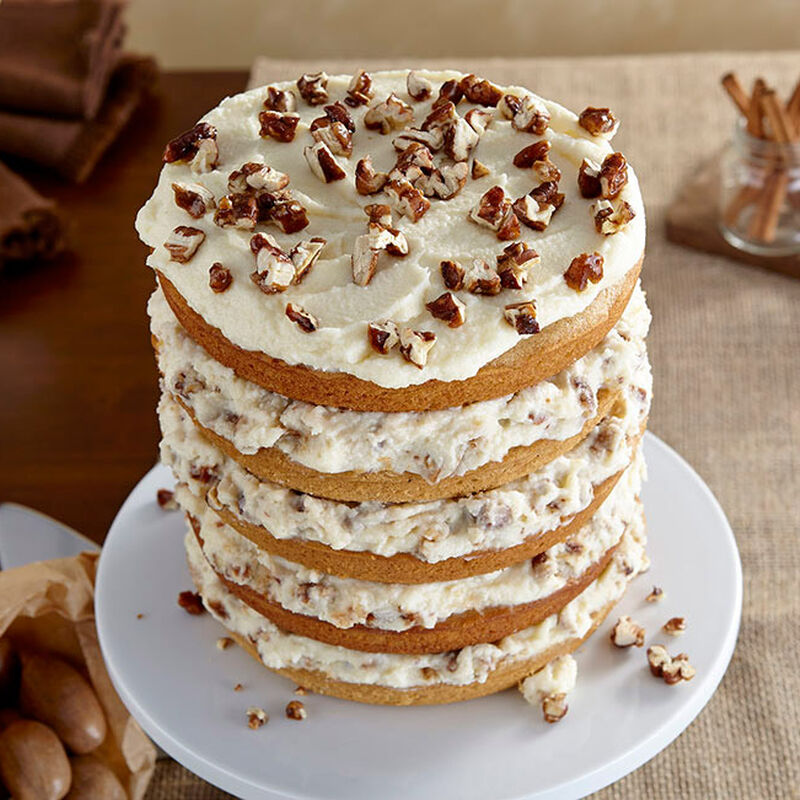 Spice Cake with Mascarpone and Candied Pecans image number 1