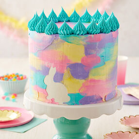 Easter Watercolor Bunny Cake