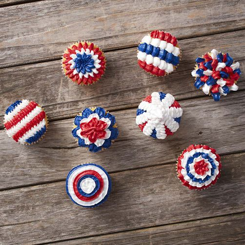 Patriotic Cupcakes - 4th Of July Cupcakes