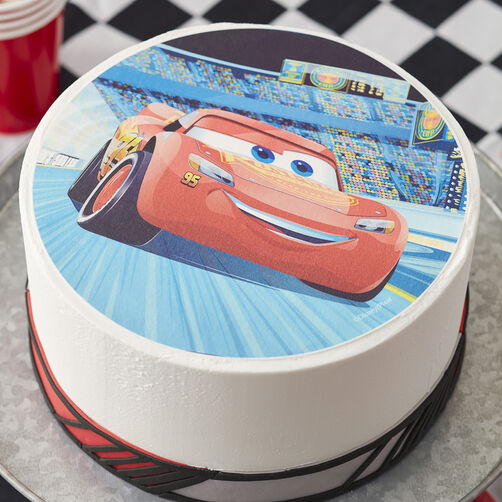 Lightning McQueen Sugar Sheets Cake