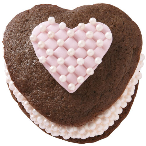 Whoopie Pie Pearl Heart Treats