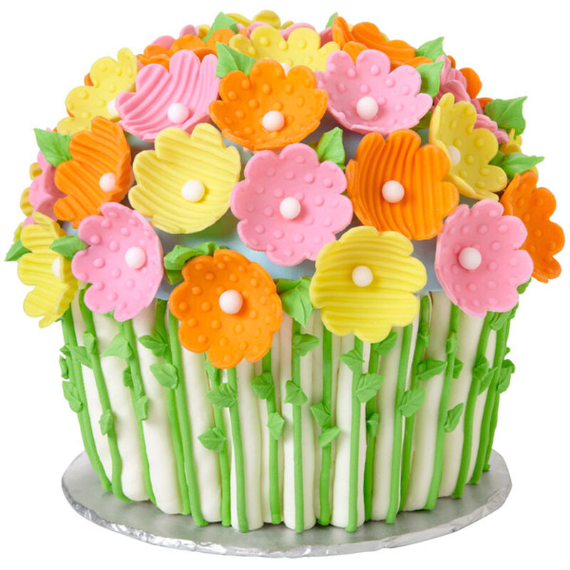 Flowers for Mother's Day Giant Cupcake Cake image number 0