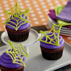 Spider Web Cupcakes
