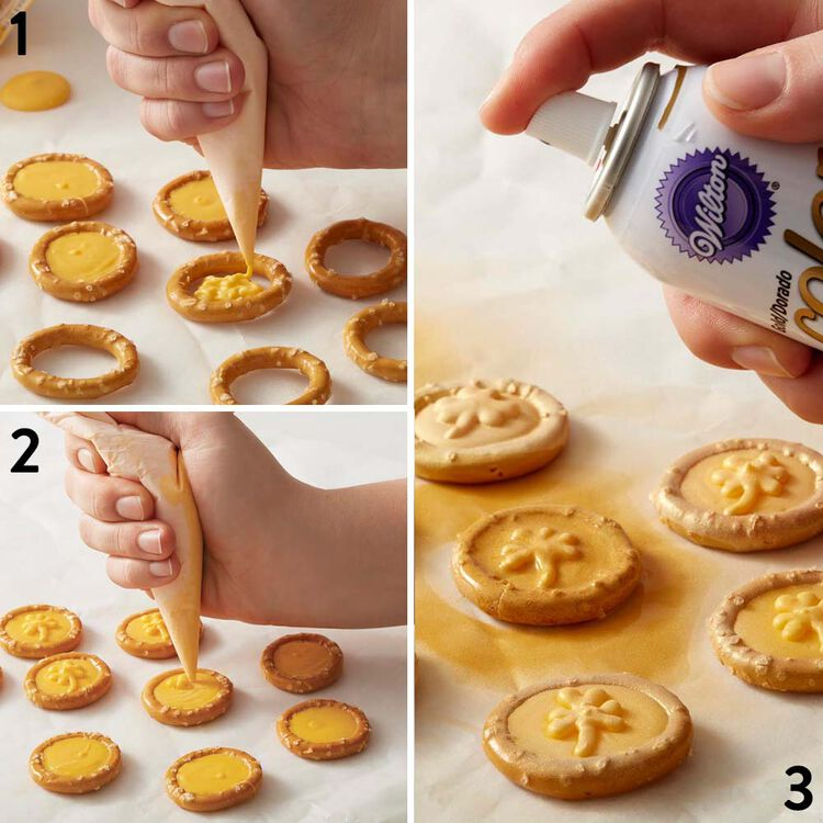 How to Make St Patricks Day Gold Pretzel and Candy Coins
