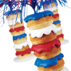 Stacked Sparkler Mini Donuts