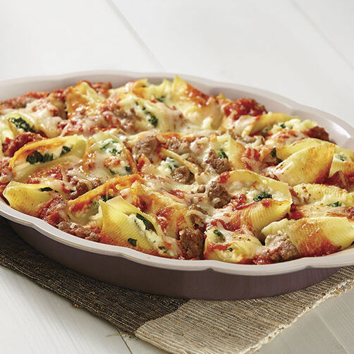 Spinach and Sausage Stuffed Shells