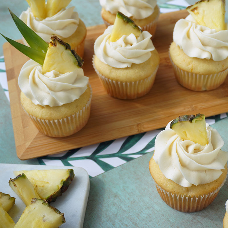 Pineapple Cupcakes With Pineapple Buttercream Frosting Wilton