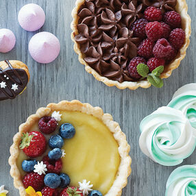 Lemon and Chocolate Tarts