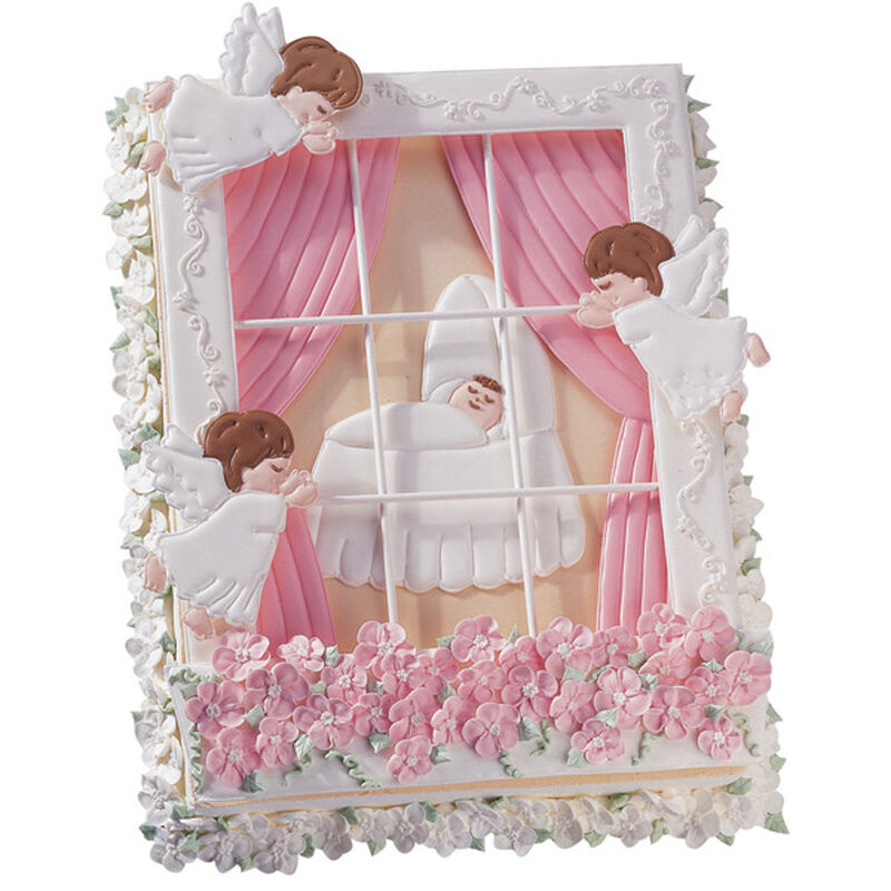 Angels Watching Over Baby Cake image number 0
