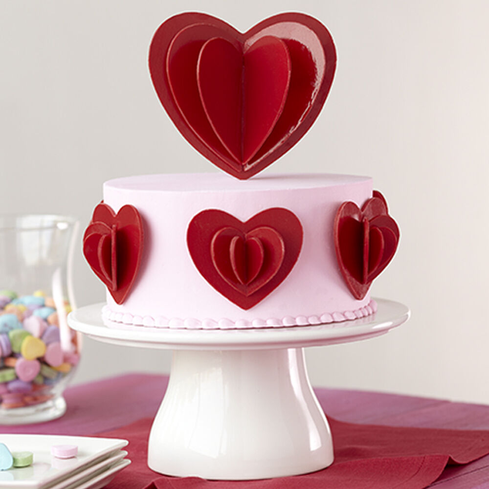 Love In Layers Candy Heart Cake Wilton