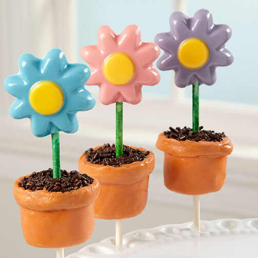 how to make candy flower pots