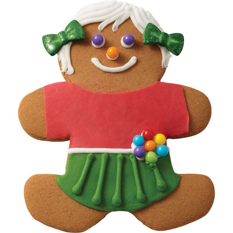 Gingerbread Girl with Pigtails