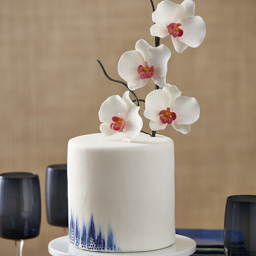 Exotic Painted Orchid Cake