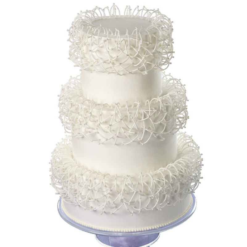 Interwoven Arches Cake image number 0
