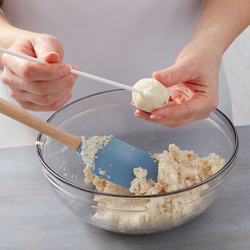 Step 4: Insert Treat Stick to Cake Ball image number 4