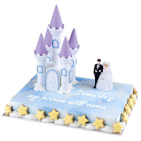 Fairy Tale Wedding Castle Cake