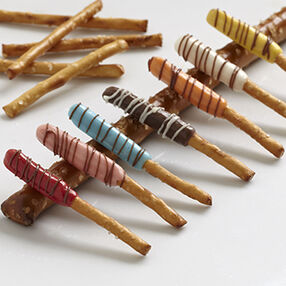 Colorful Candy-Dipped Pretzel Sticks
